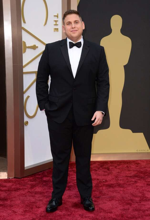 Jonah Hill arrives at the Oscars on Sunday, March 2, 2014, at the Dolby Theatre in Los Angeles. Photo: Jordan Strauss, Associated Press