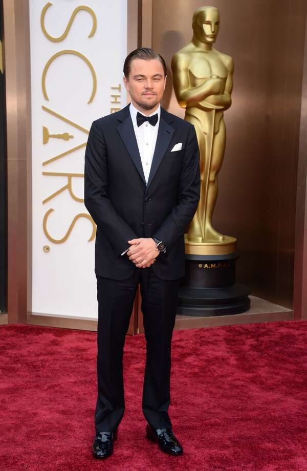 Leonardo DiCaprio arrives at the Oscars on Sunday, March 2, 2014, at the Dolby Theatre in Los Angeles. Photo: Jordan Strauss, Associated Press