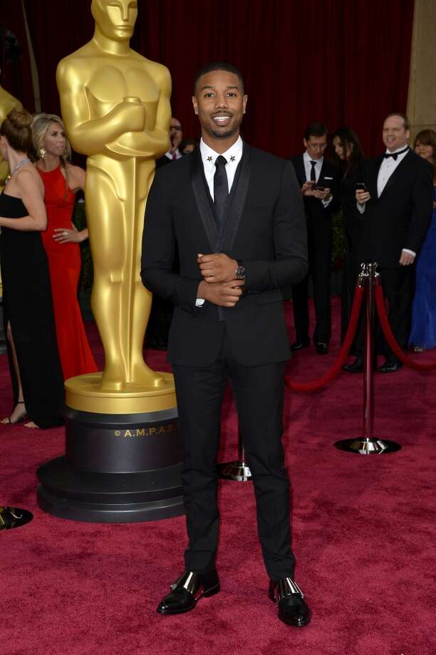 Michael B. Jordan arrives at the Oscars on Sunday, March 2, 2014, at the Dolby Theatre in Los Angeles. Photo: Dan Steinberg, Associated Press