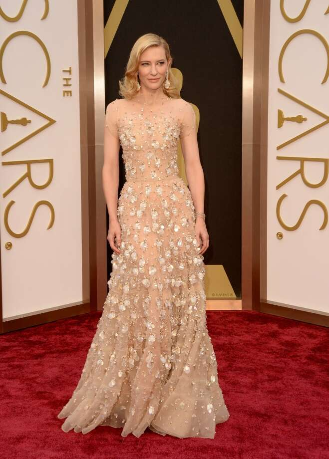 Best: Cate BlanchettThe gown looks like it materialized out of thin air and attached itself to her skin.  Photo: Jason Merritt, Getty Images