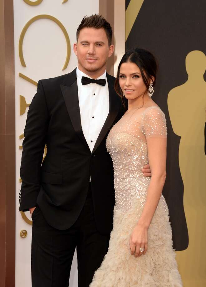 Actors Channing Tatum (L) and Jenna Dewan-Tatum attend the Oscars held at Hollywood & Highland Center on March 2, 2014 in Hollywood, California. Photo: Jason Merritt, Getty Images