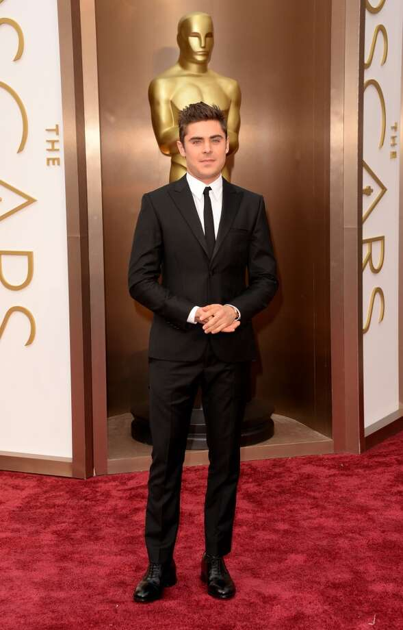 Actor Zac Efron attends the Oscars held at Hollywood & Highland Center on March 2, 2014 in Hollywood, California. Photo: Jason Merritt, Getty Images