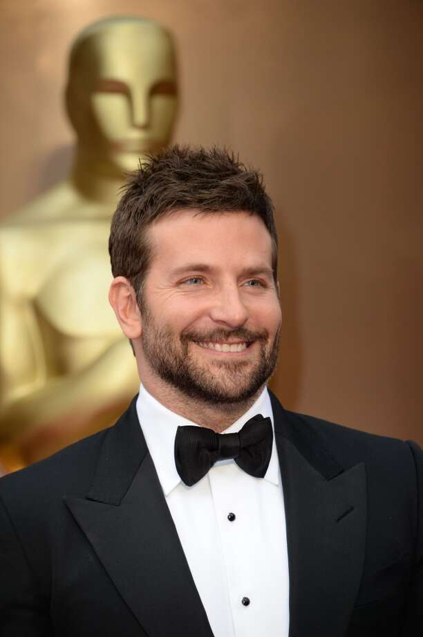 Bradley Cooper, up for best supporting actor, brings a 5 o'clock shadow as his best accessory. Photo: ROBYN BECK, AFP/Getty Images