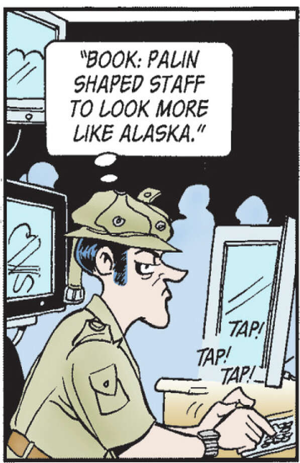 Fictional Fox News reporter Roland Hedley is a frequent Doonesbury character. Photo: Garry Trudeau