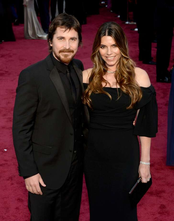 Actor Christian Bale (L) and Sibi Blazic attends the Oscars held at Hollywood & Highland Center on March 2, 2014 in Hollywood, California. Photo: Kevork Djansezian, Getty Images