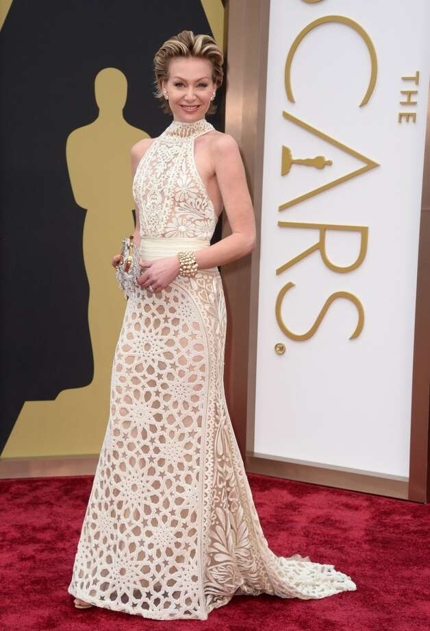 """Worst: Portia de Rossi Portia wins """"dress most likely to be made from things found at Hobby Lobby."""" Photo: Jordan Strauss, Associated Press"""