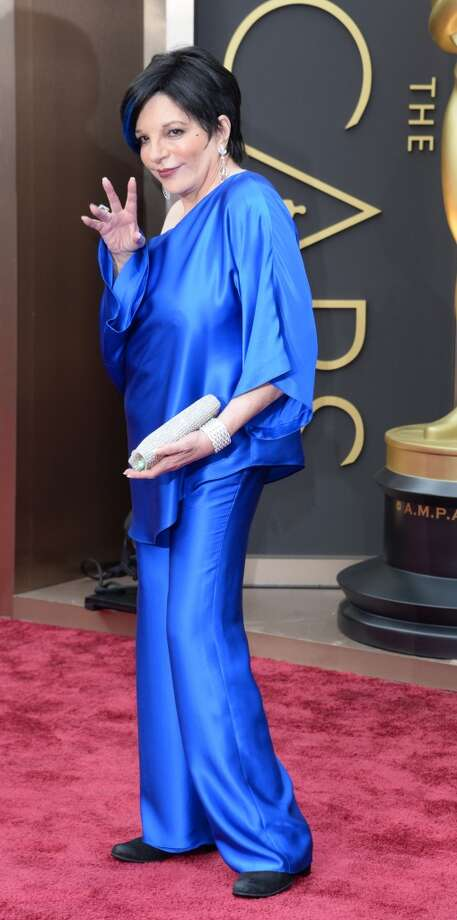 Worst: Liza MinnelliWe have blue shiny pants at home, too. We wear them to bed after eating our TV dinners and watching a bit of Pawn Stars. But never on the red carpet, Liza. Photo: ROBYN BECK, AFP/Getty Images