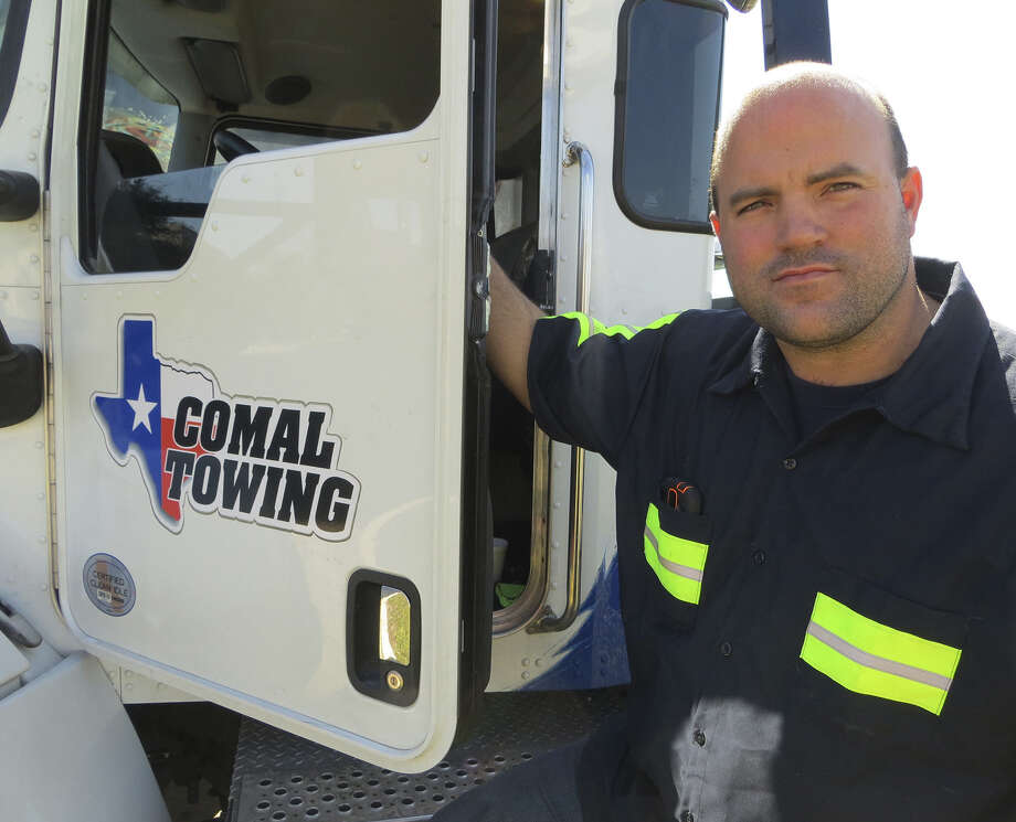 Garrison Maurer of Comal Towing is suing the city of New Braunfels over a contract to tow wrecked cars that the city awarded to other companies. He claims the city disregarded its own specifications to steer the contract to firms it favored. Photo: Zeke MacCormack / San Antonio Express-News / s