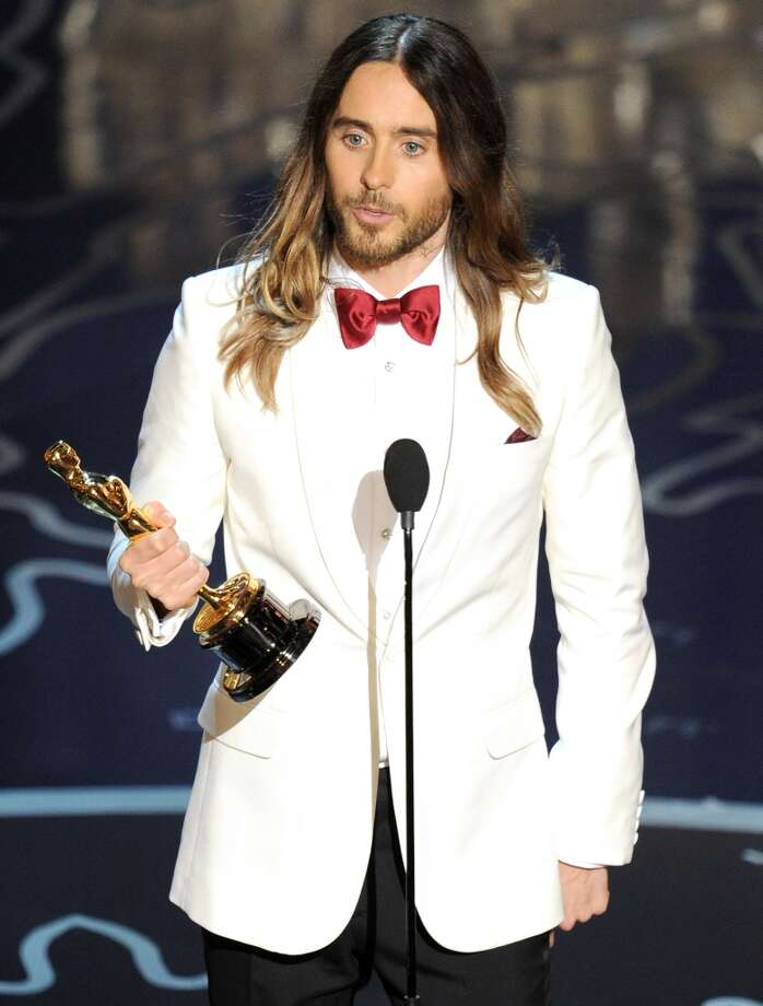 Actor Jared Leto accepts the Best Performance by an Actor in a Supporting Role award for 'Dallas Buyers Club' onstage during the Oscars at the Dolby Theatre on March 2, 2014 in Hollywood, California. Photo: Kevin Winter, Getty Images