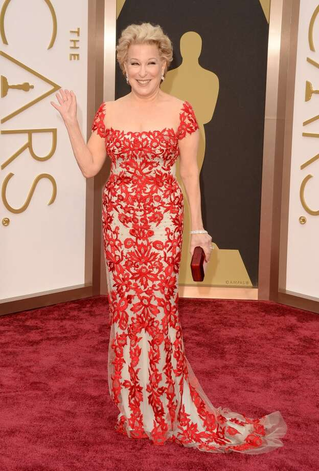 "Best. It's not often that we think to turn to Bette Midler for ""best dressed,"" but this red embroidered Reem Acra is a look we wish others had copied. Photo: Jason Merritt, Getty Images"