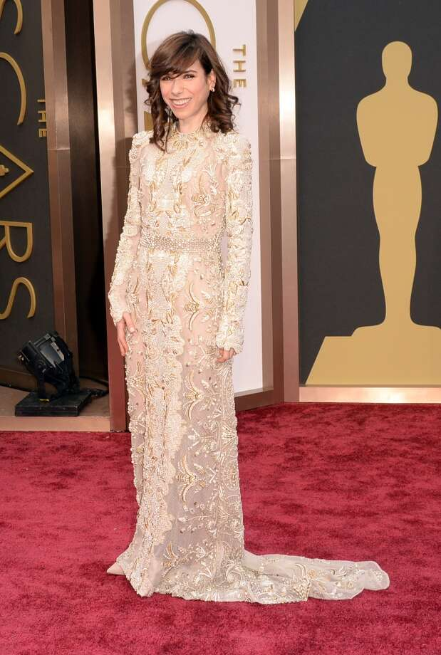 Worst. With oversized sleeves on an otherwise outstanding embroidered nude Valentino, Sally Hawkins seems to be swallowed by her gown. Photo: Jason Merritt, Getty Images