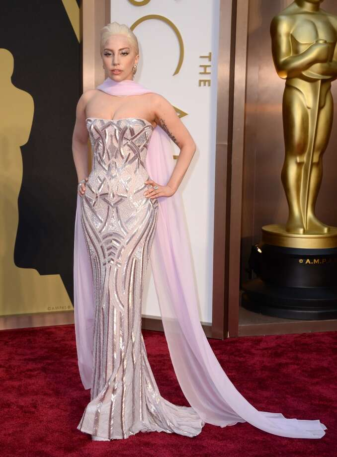 "Worst. Luckily, Lady Gaga slipped into the ceremony at the last minute, so perhaps not so many saw her in this less-than-flattering number. Sorry, Gaga. It's a little ""blah blah."" Photo: Jordan Strauss, Associated Press"