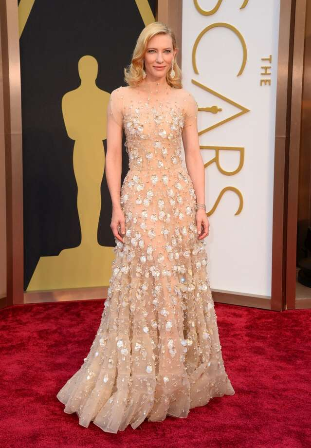 Best. Cate Blanchett played up her ethereal, timeless beauty with a nude jeweled Giorgio Armani that, although reportedly heavy, seemed to have her floating above the red carpet. Photo: Jordan Strauss, Associated Press