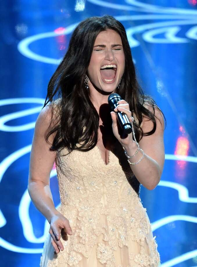 "Actress/singer Idina Menzel performs ""Let It Go"" onstage during the Oscars at the Dolby Theatre on March 2, 2014 in Hollywood, California.  (Photo by Kevin Winter/Getty Images) Photo: Kevin Winter, Getty Images"