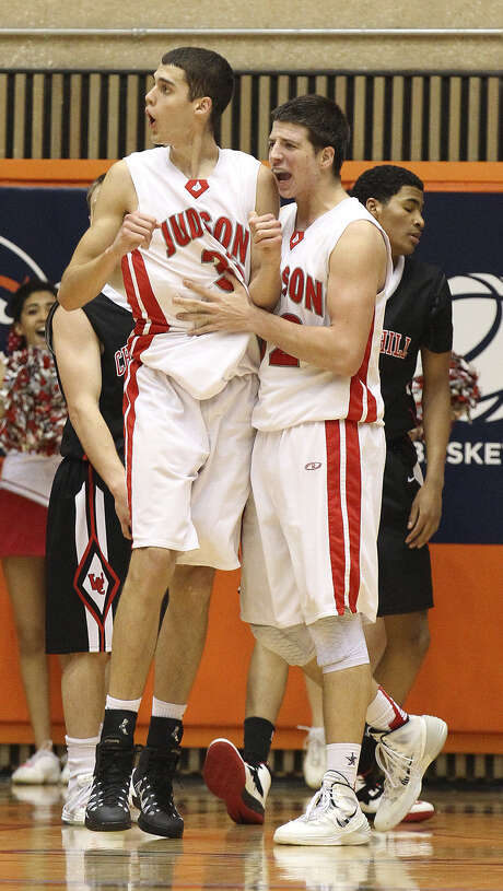 Judson's David Wacker (left) and Tanner Leissner don't mind the target on their backs for being the top team in 5A. Photo: Kin Man Hui / San Antonio Express-News / ©2013 San Antonio Express-News