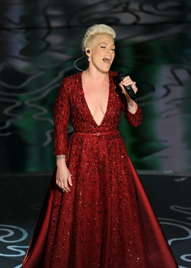 Singer Pink performs onstage during the Oscars at the Dolby Theatre on March 2, 2014 in Hollywood, California. Photo: Kevin Winter, Getty Images