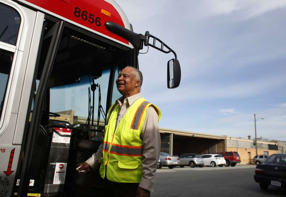 MUNI operator Charles Davis, known to many as the singing bus driver, steps out for a break at the end of the 29 Sunset line in San Francisco, Calif. Photo: Mike Kepka, The Chronicle