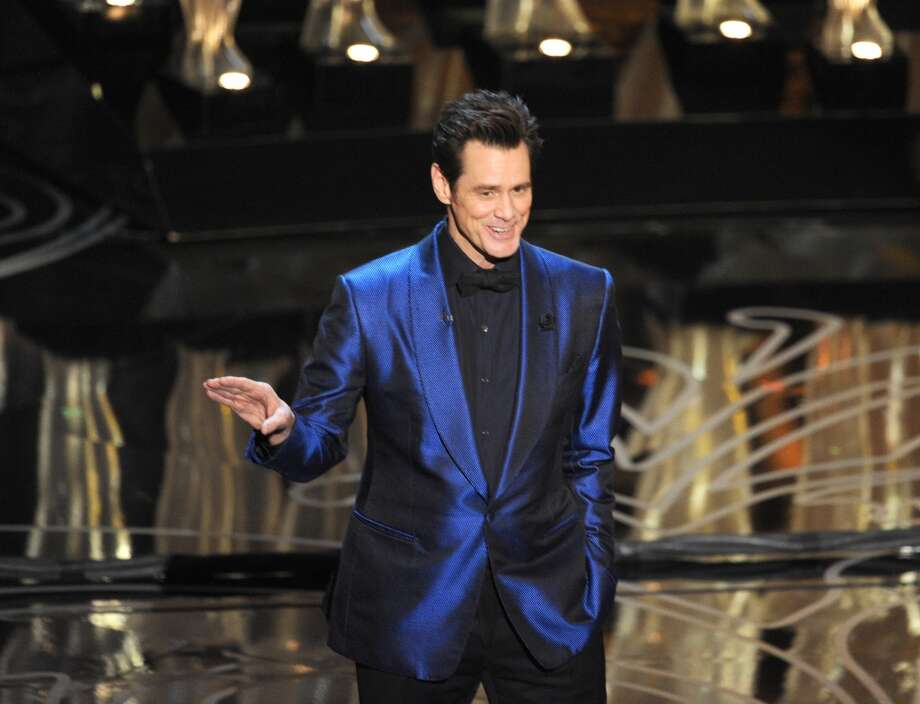 Actor Jim Carrey speaks onstage during the Oscars at the Dolby Theatre on March 2, 2014 in Hollywood, California. Photo: Kevin Winter, Getty Images