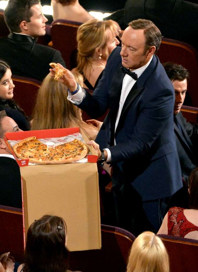 Actor Kevin Spacey in the audience during the Oscars at the Dolby Theatre on March 2, 2014 in Hollywood, California. Photo: Kevin Winter, Getty Images