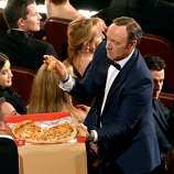 Actor Kevin Spacey in the audience during the Oscars at the Dolby Theatre on March 2, 2014 in Hollywood, California.
