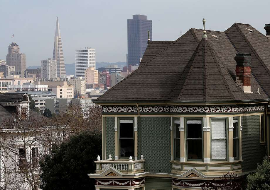 To become a gentrified neighborhood, it helps to have a promising skeleton, such as dilapidated Victorians and other historic buildings with great architecture. As gentrification picks up, don't be surprised to see new buildings made to look old and old buildings made to look new. Photo: Justin Sullivan, Getty Images