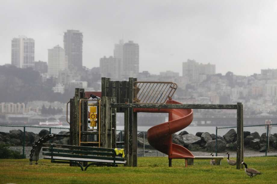 Playgrounds start to get upgrades with top-of-the line features. Photo: Lea Suzuki, The Chronicle