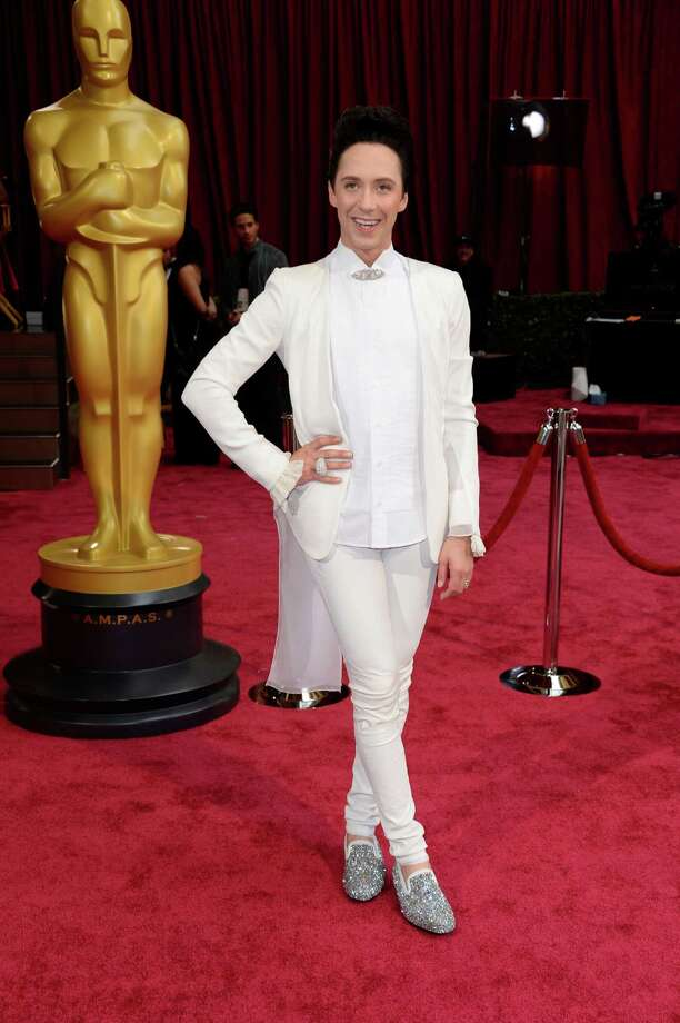 Best: Johnny Weir's shoesWorst: The rest of this ensemble, which might be made from Spandex.  Photo: Dan Steinberg, Associated Press / Invision