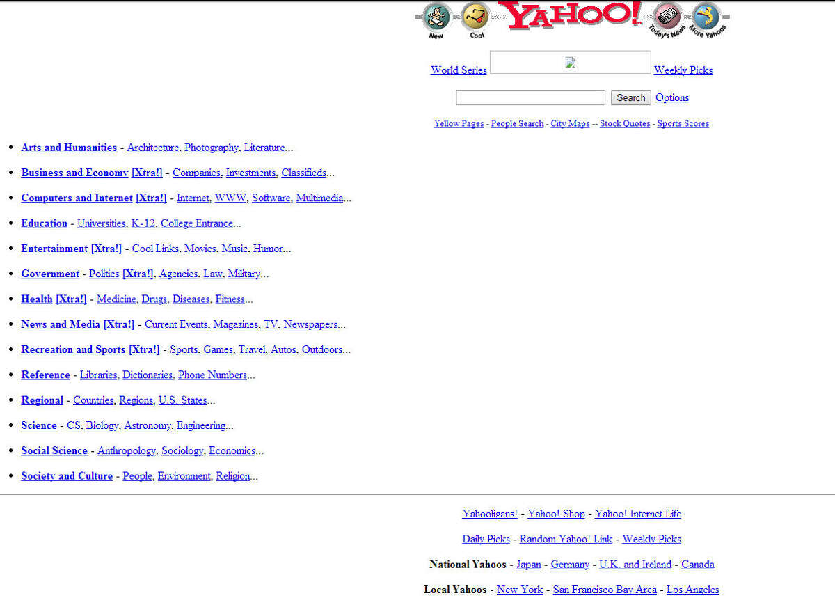 Yahoo! Launched in 1994