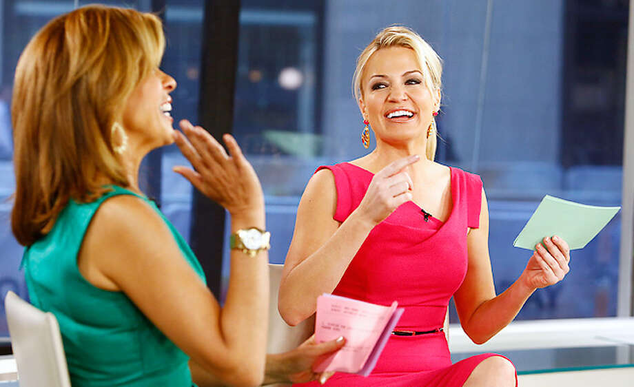 Michelle Beadle at her former network of NBC, chats with Hoda Kotb. Photo: NBC NewsWire, 2013 NBCUniversal Media, LLC. / 2013 NBCUniversal Media, LLC.