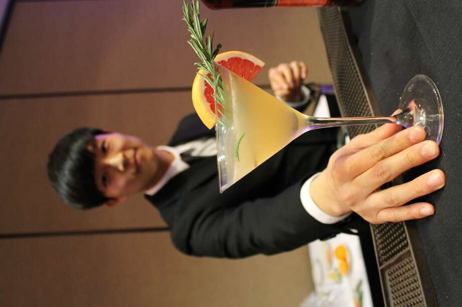 Contestant Sukhyun Kim during the cocktail challenge.