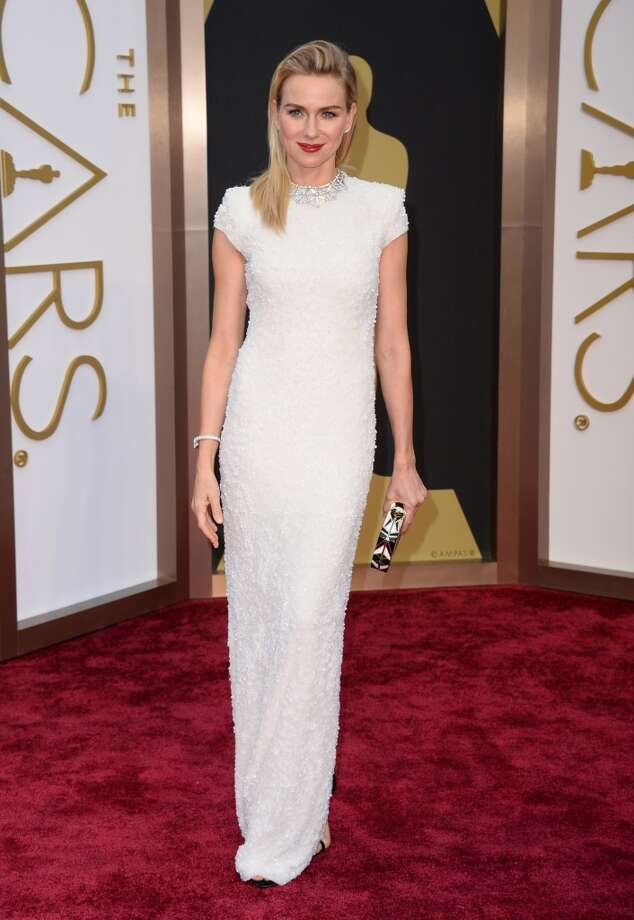 Best: Naomi WattsWatts wins for not draping, pepluming or going strapless, and bringing that awesome clutch.  Photo: Jordan Strauss, Associated Press