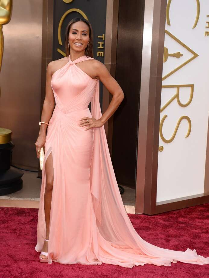 Worst: Jada Pinkett SmithNeither the color nor the strange draping are flattering.  Photo: Jordan Strauss, Associated Press