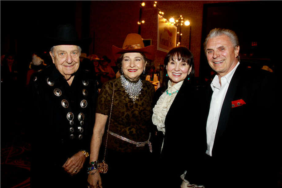Bill and Joanne Crassas, from left, with Jean Redelat and Ron Juwa Photo: Gary Fountain, For The Chronicle