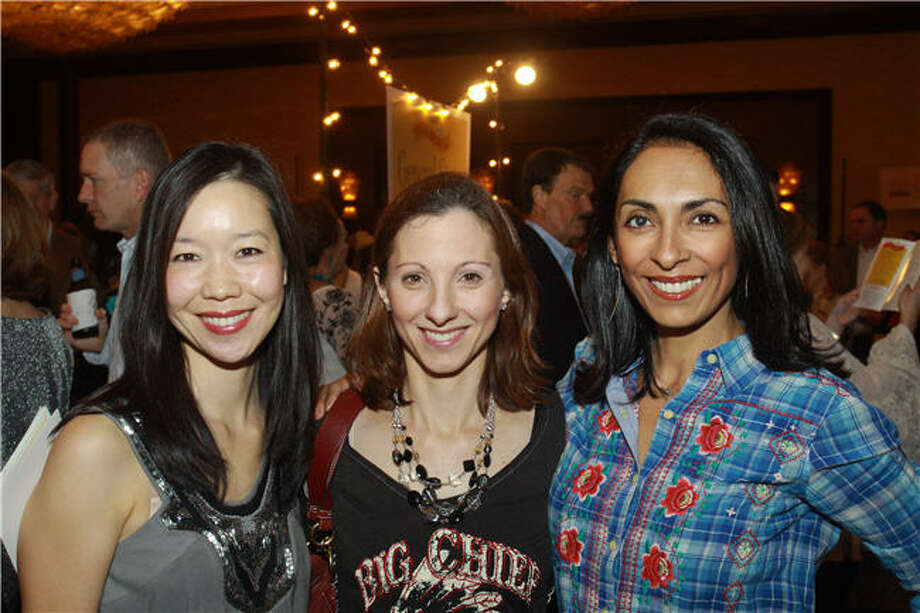 Samantha Wykoff, from left, Amy Schefler and Erika Benz Photo: Gary Fountain, For The Chronicle