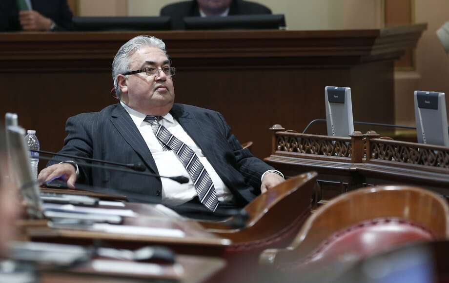 Sen. Ron Calderon, left, has been indicted on 24 federal charges. Sen. Roderick Wright was convicted of eight felonies for lying about his residence. Photo: Rich Pedroncelli, Associated Press