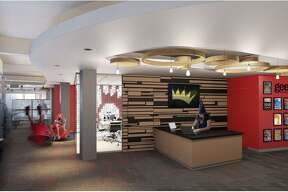 A drawing of the reception area at the new Geekdom in the Rand Building, 100 E. Houston St., set to open March 31.