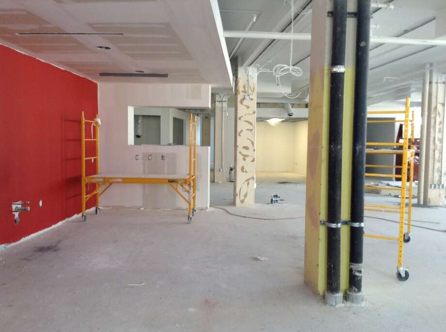 The kitchen area in the new Geekdom still under construction. Photo: Benjamin Olivo, MySA.com