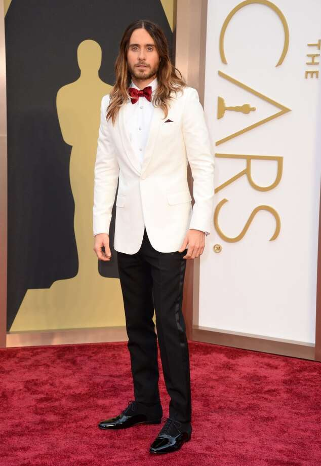 Jared Leto's tux ensemble also included Neil Lane cufflinks. Photo: Jordan Strauss, Associated Press