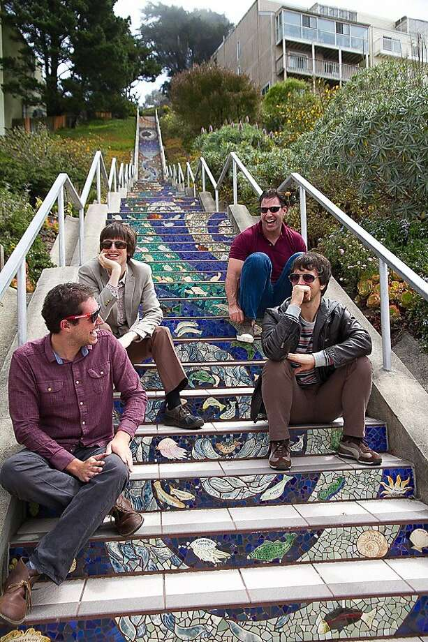 The Greening (clockwise from top left): Karl Meischen, Nick Tatro, Will Loving and Adam Pallin. Photo: Lisa Ratner