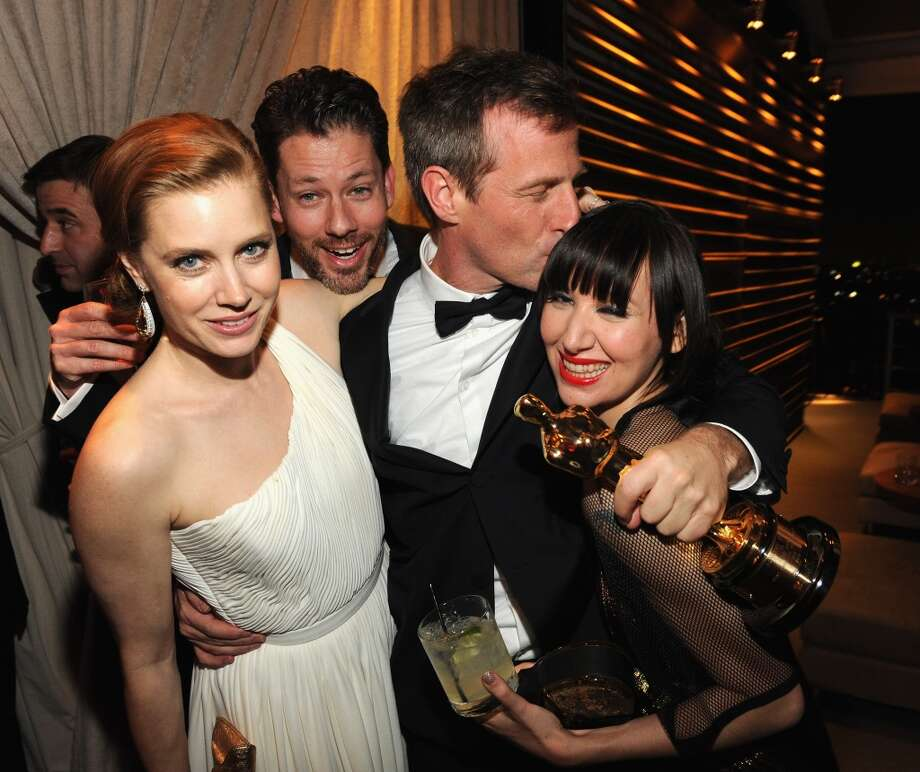 Amy Adams, Spike Jonze and Karen O attend the 2014 Vanity Fair Oscar Party Hosted By Graydon Carter on March 2, 2014 in West Hollywood, California. Photo: Kevin Mazur/VF14, WireImage