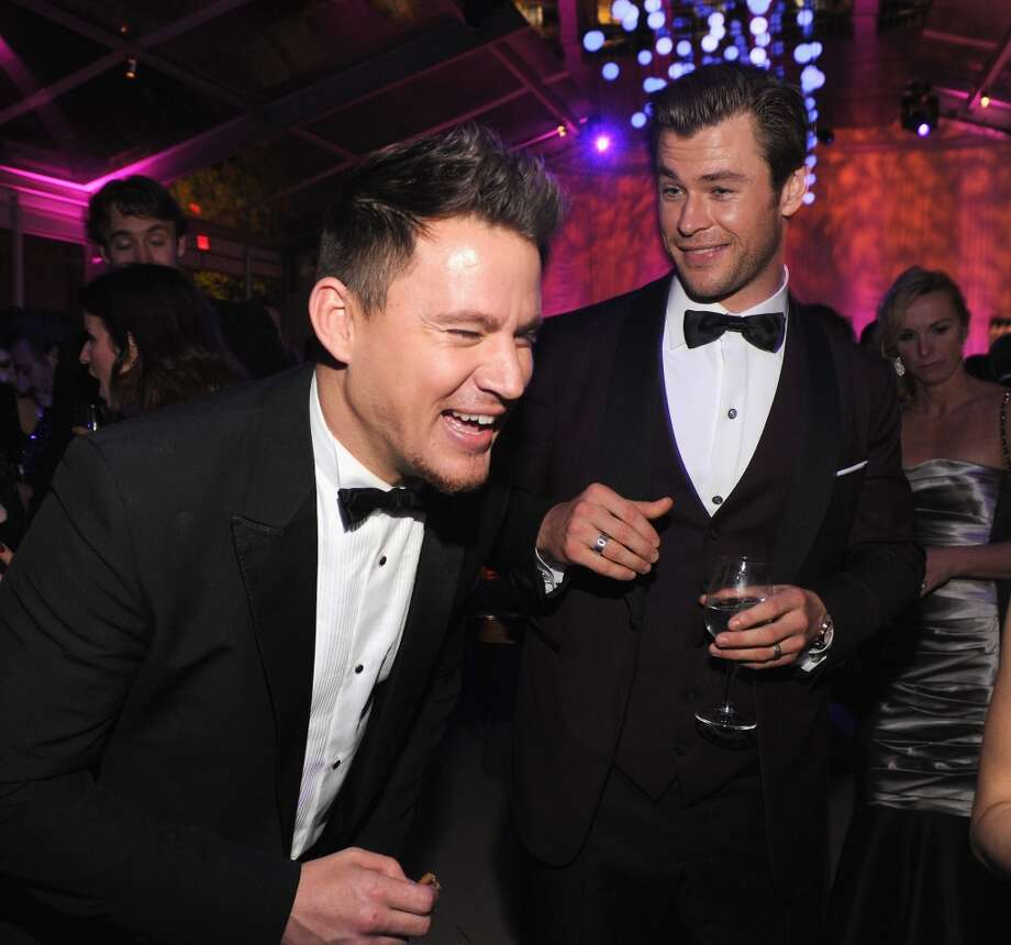 Channing Tatum and Chris Hemsworth attend the 2014 Vanity Fair Oscar Party Hosted By Graydon Carter on March 2, 2014 in West Hollywood, California. Photo: Kevin Mazur/VF14, WireImage