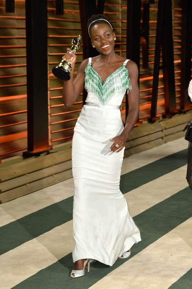 Actress Lupita Nyong'o attends the 2014 Vanity Fair Oscar Party hosted by Graydon Carter on March 2, 2014 in West Hollywood, California. Photo: Pascal Le Segretain, Getty Images