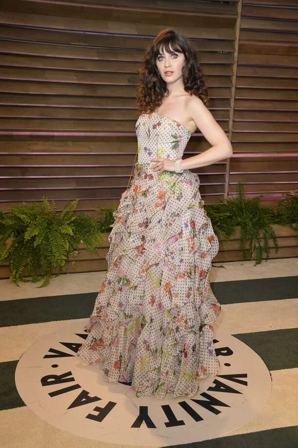 Actress Zooey Deschanel attends the 2014 Vanity Fair Oscar Party hosted by Graydon Carter on March 2, 2014 in West Hollywood, California. Photo: Pascal Le Segretain, Getty Images