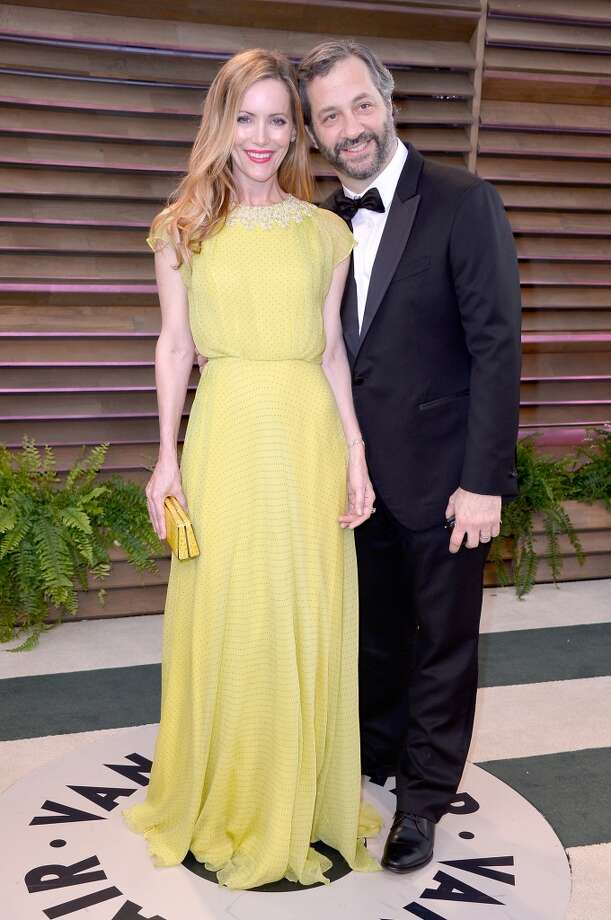 Actress Leslie Mann (L) and director/writer Judd Apatow attends the 2014 Vanity Fair Oscar Party hosted by Graydon Carter on March 2, 2014 in West Hollywood, California. Photo: Pascal Le Segretain, Getty Images
