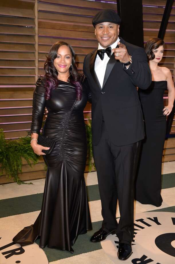 Simone Johnson (L) and musician LL Cool J attend the 2014 Vanity Fair Oscar Party hosted by Graydon Carter on March 2, 2014 in West Hollywood, California. Photo: Pascal Le Segretain, Getty Images