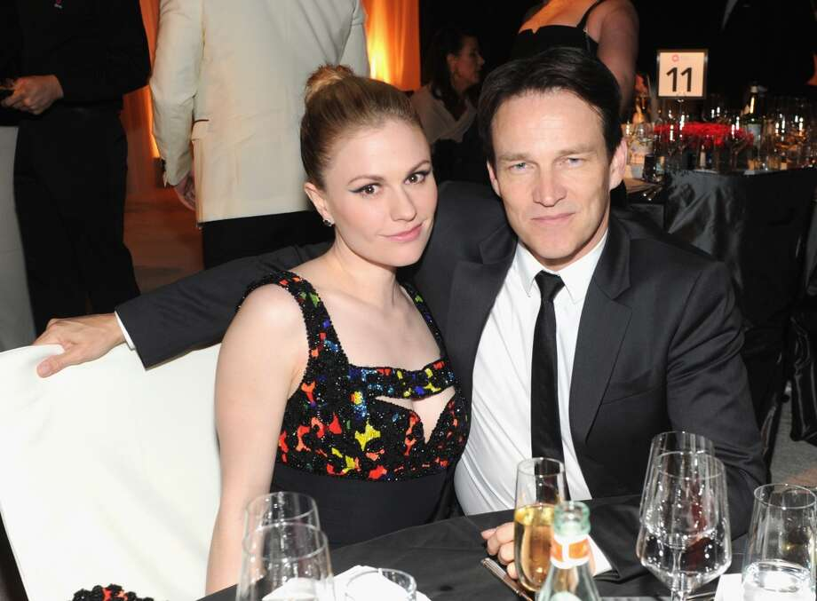 Actors Anna Paquin and Stephen Moyer attend the 22nd Annual Elton John AIDS Foundation Academy Awards Viewing Party at The City of West Hollywood Park on March 2, 2014 in West Hollywood, California. Photo: Jamie McCarthy, Getty Images For EJAF