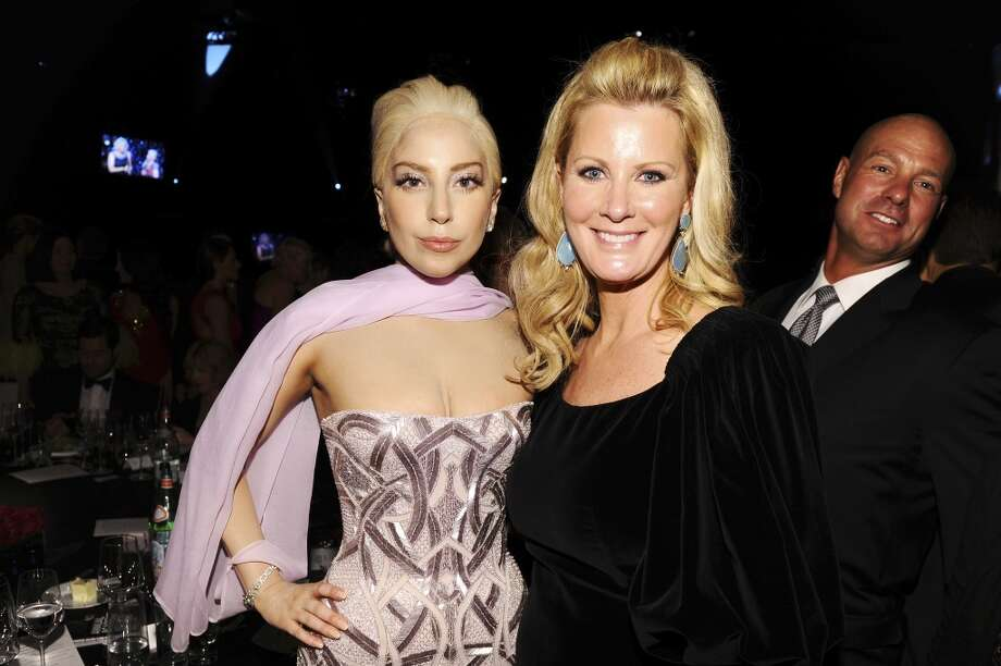 Recording artist Lady Gaga (L) and TV personality Sandra Lee attend the 22nd Annual Elton John AIDS Foundation Academy Awards Viewing Party at The City of West Hollywood Park on March 2, 2014 in West Hollywood, California. Photo: Dimitrios Kambouris, Getty Images For EJAF