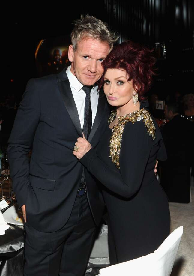 Chef Gordon Ramsay and Sharon Osbourne attend the 22nd Annual Elton John AIDS Foundation Academy Awards Viewing Party at The City of West Hollywood Park on March 2, 2014 in West Hollywood, California. Photo: Jamie McCarthy, Getty Images For EJAF