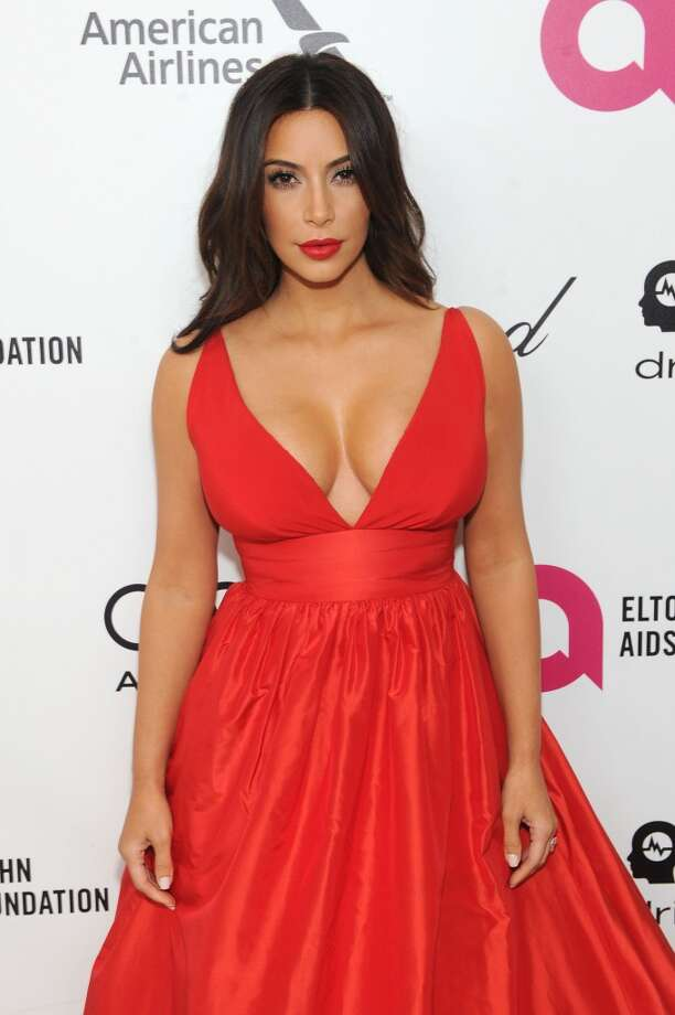 Kim Kardashian attends the 22nd Annual Elton John AIDS Foundation Academy Awards viewing party with Chopard at the City of West Hollywood Park on March 2, 2014 in West Hollywood, California. Photo: Dimitrios Kambouris, Getty Images For EJAF