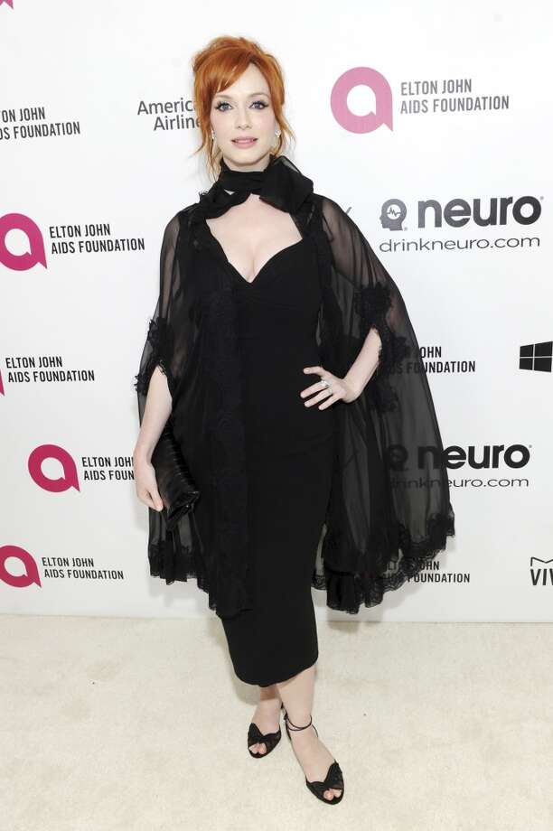 Actress Christina Hendricks attends the 22nd Annual Elton John AIDS Foundation Academy Awards viewing party with Chopard at the City of West Hollywood Park on March 2, 2014 in West Hollywood, California. Photo: Dimitrios Kambouris, Getty Images For EJAF
